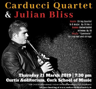 COS presents - Carducci Quartet & Julian Bliss